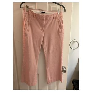 Pink J.Crew flared cropped pant. Size 4.